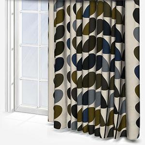 Orla Kiely Multi Stem Moss Curtain