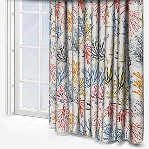 Coral Tropical Curtain