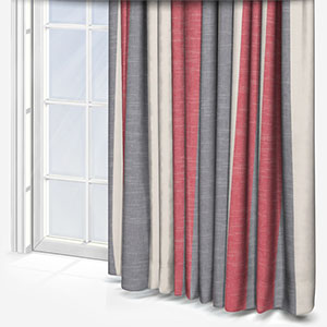 Studio G Buckton Denim Red Curtain