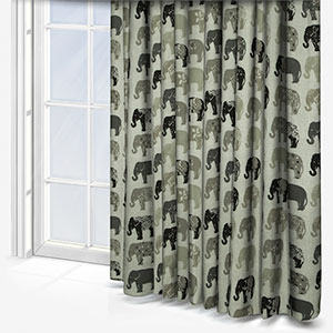Studio G Elephants Natural Curtain