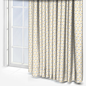 Studio G Fleaur Chartreuse & Charcoal Curtain