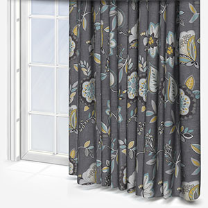 Studio G Octavia Charcoal/Chartreuse Curtain
