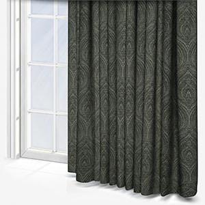 Touched By Design Arabesque Charcoal Curtain