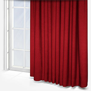 Touched By Design Crushed Silk Rosso Curtain
