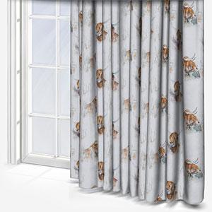 Voyage Highland Cow Linen Curtain
