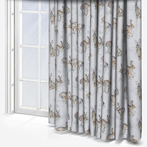 Voyage Hurtling Hares Linen Curtain