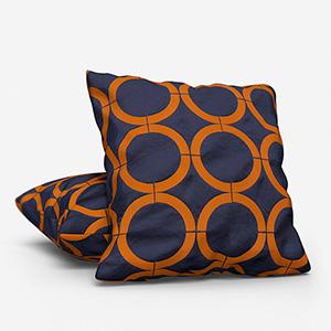 Cercle Broderie Bleu Curry Cushion