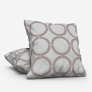 Cercle Broderie Gris Cushion