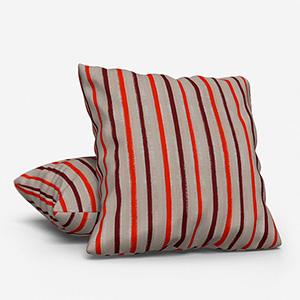 Costa Rica Tissus Rayures Pumkin Cushion