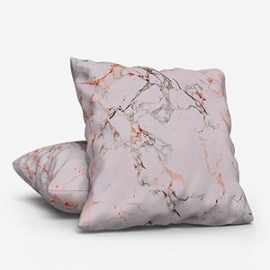 Earth Velours Marbre Gris/Cuirve Cushion