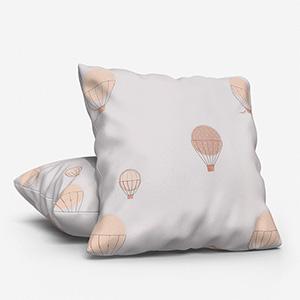 My Little World Montgolfieres Brodees Beige Cushion