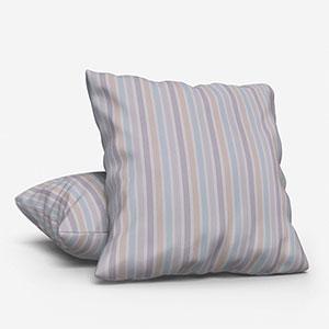 My Little World Rayure Bleu/Beige/Gris Cushion