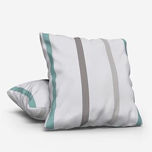 Ohio Tissus Rayure Bleu Cushion