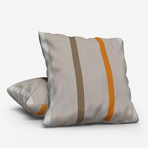 Ohio Tissus Rayure Jaune Cushion