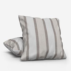 Tissu Rayure Rythm Blanc Lin Cushion