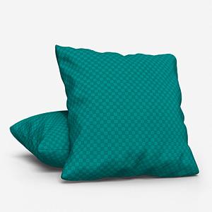 Tissus Berlin Damier Emeraude Cushion