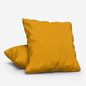Tissus Berlin Damier Jaune Cushion