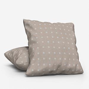 Tissus Berlin Pastilles Blanc Cushion