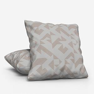 Tissus Berlin Puzzle Blanc Cushion