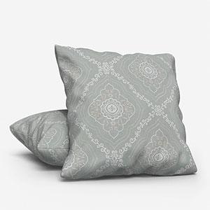 Tissus Manosque Faience Bleu Clair Cushion