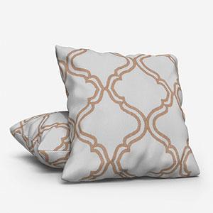 Tissus Manosque Volute Beige Cushion