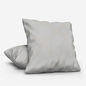 Tissus Manosque Volute Blanc Cushion