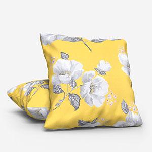Cath Kidston Wild Poppies Citrine Cushion