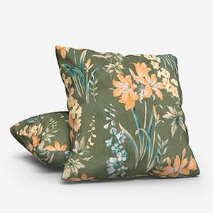 iLiv Botanical Studies Velvet Olive Cushion