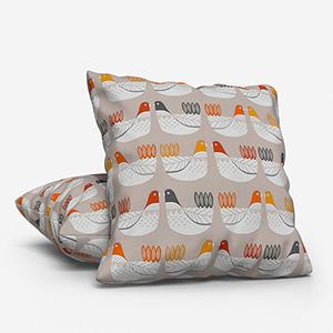 Cluck Cluck Tangerine Cushion