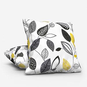 Forest Leaves Noir Cushion