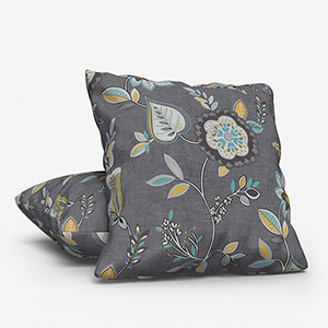 Octavia Charcoal/Chartreuse Cushion