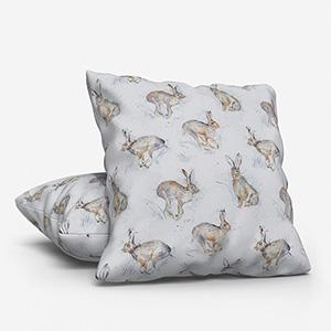 Voyage Hurtling Hares Linen Cushion