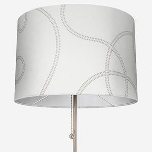 Prague Tissu Lacet Brode Taupe Lamp Shade