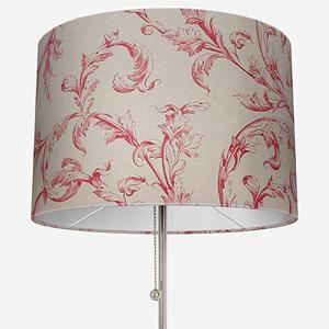 Tissu Arabesque Lin Rouge Lamp Shade