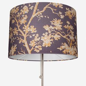 Tissu Arbre Lin Jaune / Prune Lamp Shade