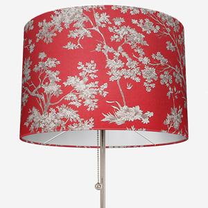 Casadeco Tissu Arbre Lin Rouge Lamp Shade