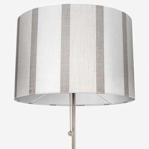 Tissu Rayure Rythm Blanc Lin Lamp Shade
