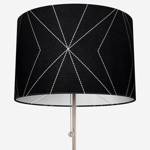 Tissus Berlin Art Gris Sur Fond Noir Lamp Shade