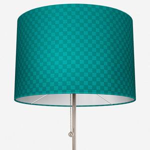 Tissus Berlin Damier Emeraude Lamp Shade
