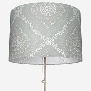 Tissus Manosque Faience Bleu Clair Lamp Shade