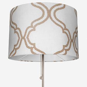 Tissus Manosque Volute Beige Lamp Shade