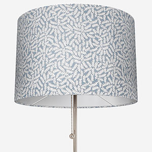 Touched By Design Ficus Leaf Sky Blue Lamp Shade