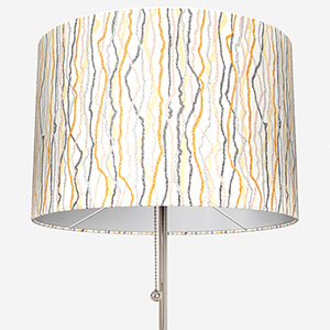 Touched By Design Squiggle Grey & Ochre Lamp Shade