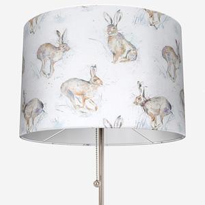 Voyage Hurtling Hares Linen Lamp Shade