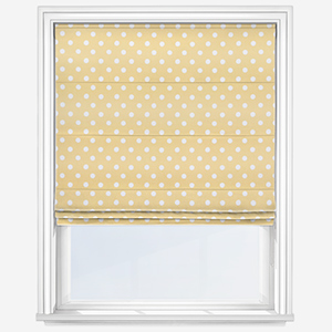 Cath Kidston Button Spot Yellow Roman Blind