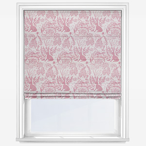 Clarke & Clarke Hedgerow Pink Roman Blind