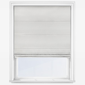 Touched by Design Accent White Roman Blind