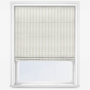 Fryetts Mono Stripe White Roman Blind