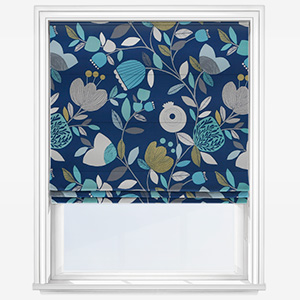 iLiv Pomegranate Trail Capri Roman Blind