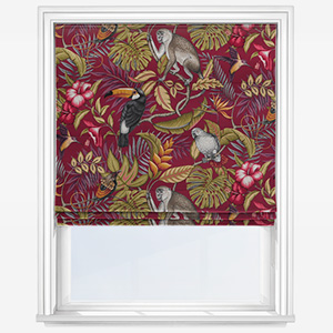 iLiv Rainforest Cranberry Roman Blind